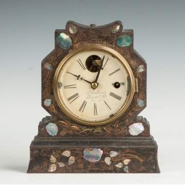 J.C. Brown Miniature Iron Front Shelf Clock