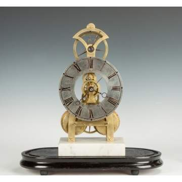 Rare S.B. Terry Balance Wheel Skeleton Clock