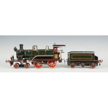 Bing Clockwork Engine & Tender, I48