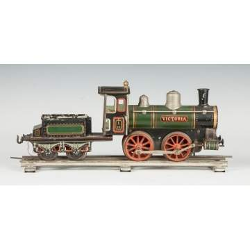 "Bing Clockwork Engine & Tender, ""Victoria"""