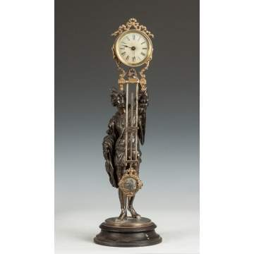 Ansonia Swinger Clock with Fisherman