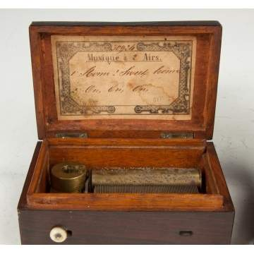 Two Miniature Music Boxes