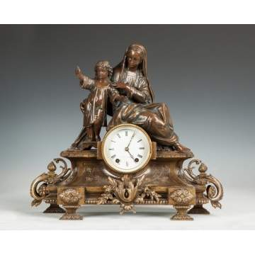 Seth Thomas Madonna & Child Shelf Clock