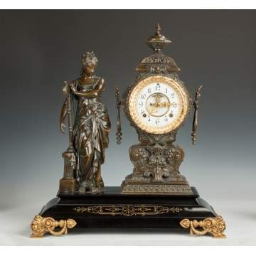 "Ansonia ""Music"" Figural Clock"