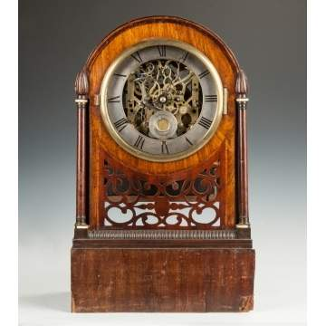 English Bracket Clock with Cylinder Music Box
