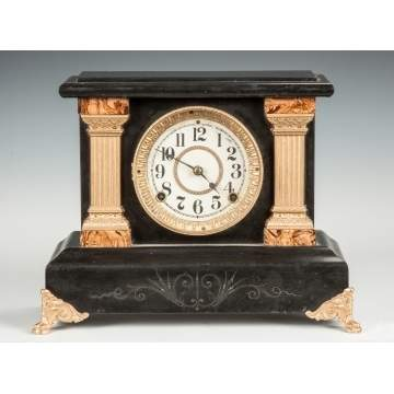 Faux Marble Mantle Clock