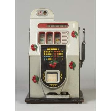 "Mills 1946 25 Cent Slot Machine ""Black Cherry"""