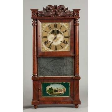 C. & L.C. Ives, Bristol, CT, Triple Decker Shelf Clock
