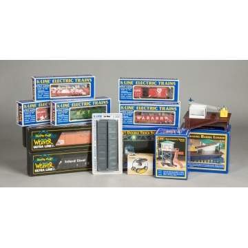 Group of K-Line & Weaver Train Cars & Accessories