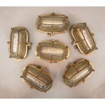 Six Vintage British Convoy Ships Lights