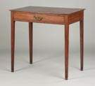 New England Hepplewhite Mahogany Side Table with Drawer