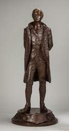 Bronze Sculpture of the Patriot Nathan Hale