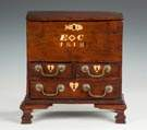 Fine & Rare Nantucket, RI, Mahogany Miniature Chest