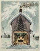 "Charles E. Burchfield (American, 1893-1967) ""Dreaming of Christmas"""