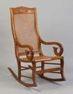 Tiger Maple Rocking Chair