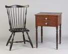 Windsor Chair & Two Drawer Stand