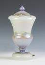 Rare Decorated Steuben Verre De Soie Boudoir Lamp