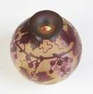 Galle Cameo Vase with Grapes