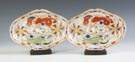 Pair Hand Painted Worcester Oval Serving Pieces