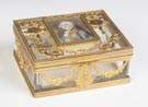 Gilt Bronze & Glass Jewelry Box