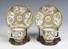 Two Ulysses S. Grant Chinese Porcelain Cup & Saucers