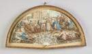 French Painted Fan with Roman Scenes