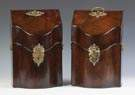 Period George III Ebony Inlaid Figured Mahogany Knife Boxes