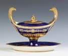 Sevres Cobalt & Gold Enameled Tureen from the 'Service Iconographique Grec'