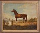 "Robert  W. Hanington (American, Mid. 19th cent.) Portrait of the Horse ""Index"""
