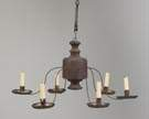 Tin & Wrought Iron Hanging Candle Lighting Device