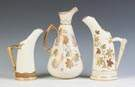 Three Pieces of Hand Painted Royal Worcester