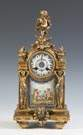 French Gilded Brass Clock