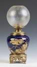 Cobalt Porcelain & Brass Lamp