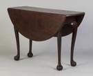 Diminutive Plum Pudding Mahogany Drop Leaf Table, Boston