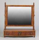 Sheraton Inlaid Mahogany Shaving Mirror