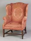 Fine Inlaid Mahogany Hepplewhite Wing Chair