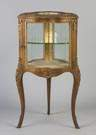 French Gilded Serpentine Vitrine