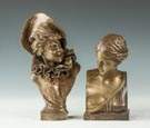 Two Bronze Busts