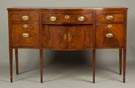 American Hepplewhite Inlaid Serpentine Sideboard