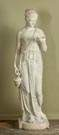Classical Carved Marble Robed Lady with Ewer