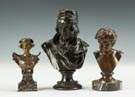 Group of Three Bronze Busts