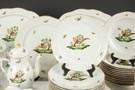 Herend Hand Painted Porcelain, Service for 12 with Serving Pieces