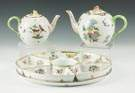 Herend Hand Painted Porcelain -Two Teapots & Lazy Susan