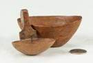 Miniature Carved Bowl & Ladle