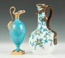 Two Royal Worcester Hand Painted Ewers