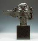 G. Nisini (Italian) Head of Mercury Bronze Sculpture