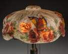 Closed Top Pairpoint Puffy Lamp with Rose & Butterfly