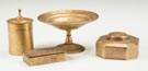 Tiffany Studios Gold Dore Desk Accessories