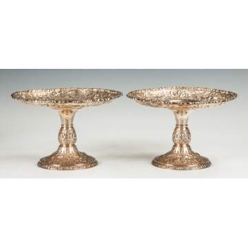 A Pair of Gorham Sterling Silver Tazzas