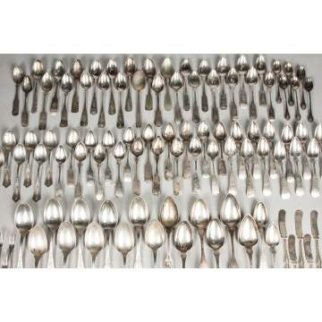 Large Group of Various Coin Silver & Sterling Spoons